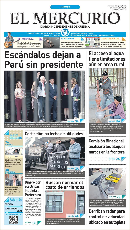 hemeroteca 22 03 2018 by Diario El Mercurio Cuenca issuu