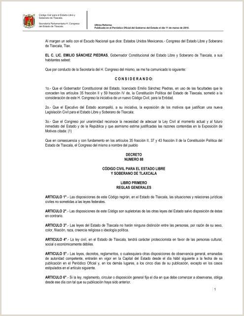 codigo civil para el estado libre y soberano de tlaxcala