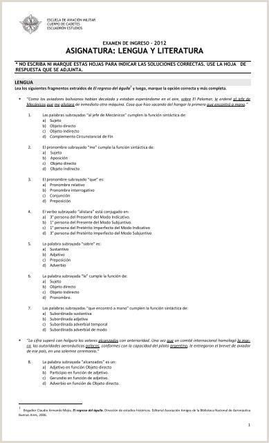 Formato Hoja De Vida Pdf Descargar Examen De Ingreso Tipo A±o 2012 En formato Pdf