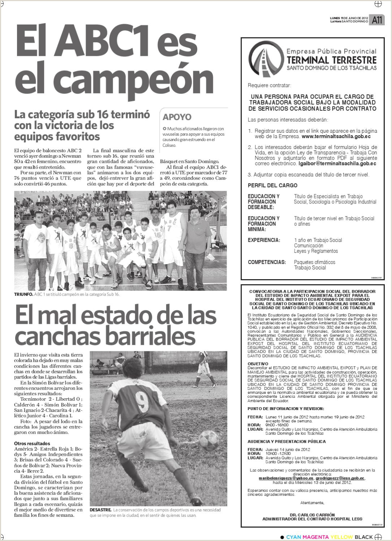 Edici³n impresa Santo Domingo del 11 de junio de 2012 by