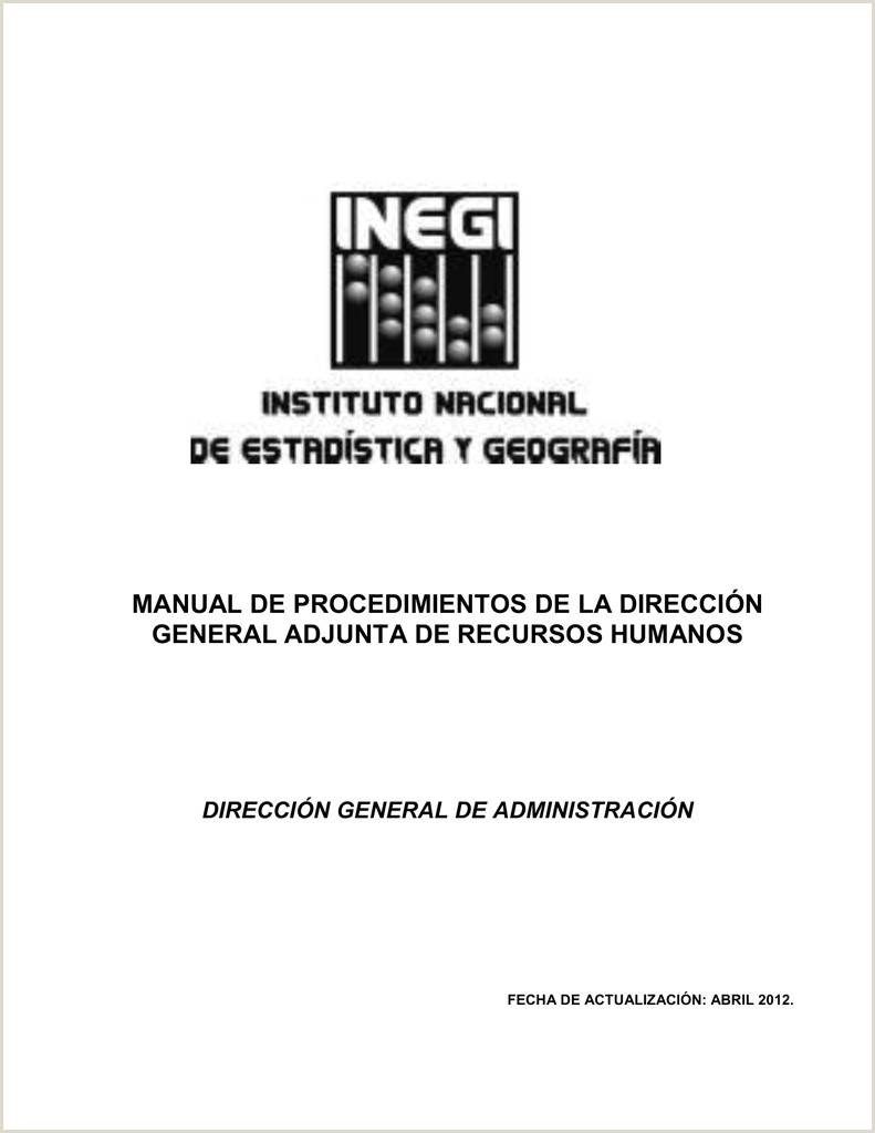 manual de procedimientos de la direcci³n general adjunta