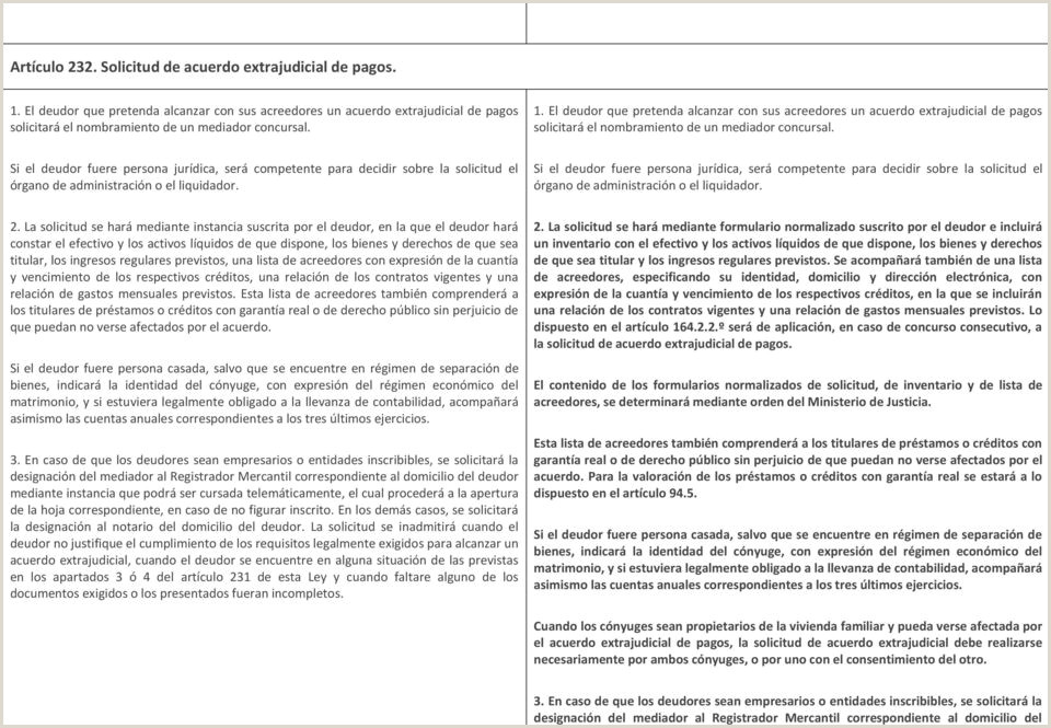 Formato Hoja De Vida Persona Juridica Funcion Publica Modificaciones A La Ley Concursal Pdf