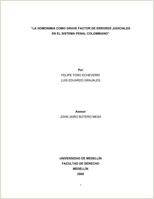 Formato Hoja De Vida Rama Judicial Jueces La Homonimia O Grave Factor De Errores Judiciales