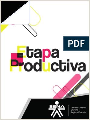 Etapa Productiva Sena Correo