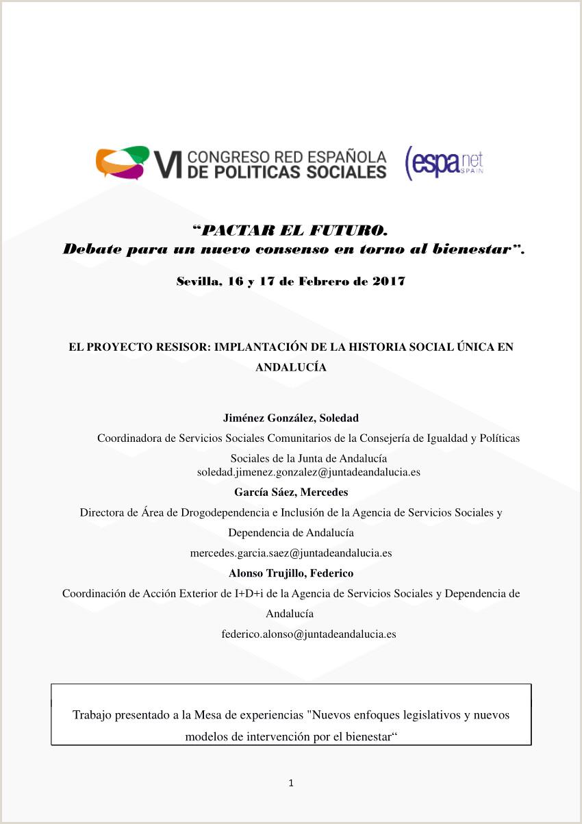 PDF El proyecto RESISOR implantaci³n de la historia social