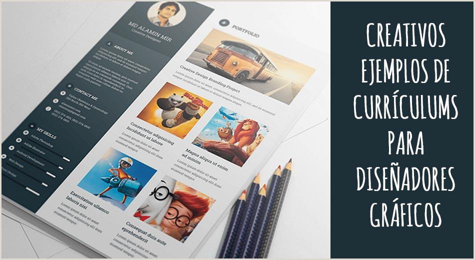Creativos ejemplos de Currculums para dise±adores gráficos