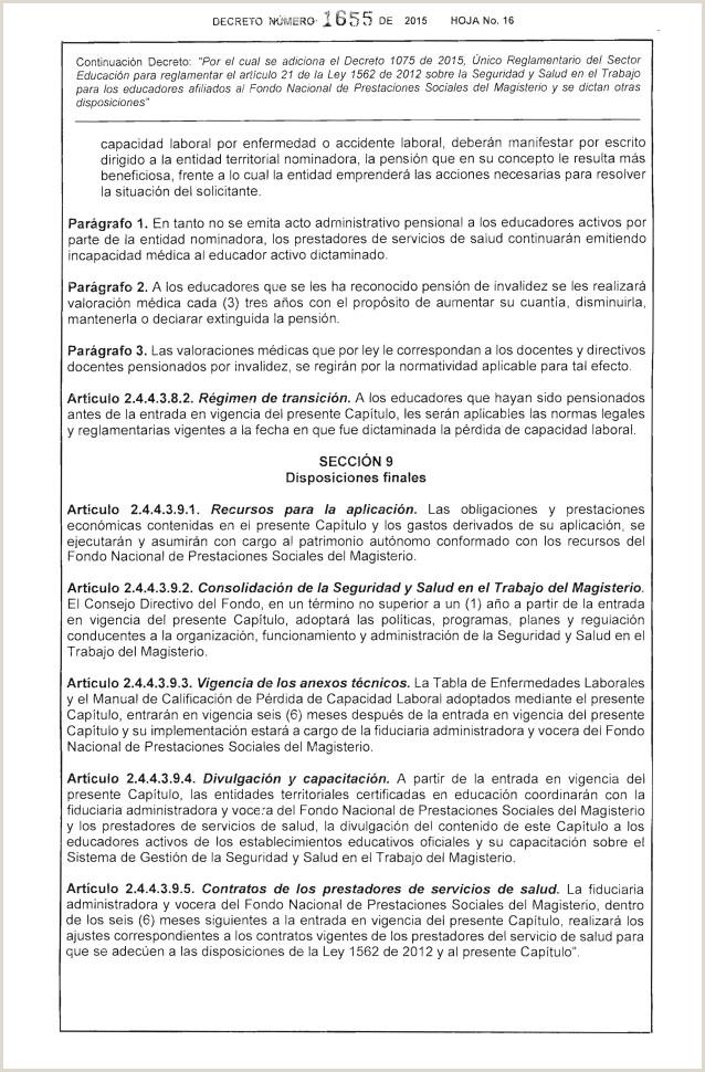Formato Unico De Hoja De Vida Del Magisterio Dec 1655 Sg Sst Magisterio