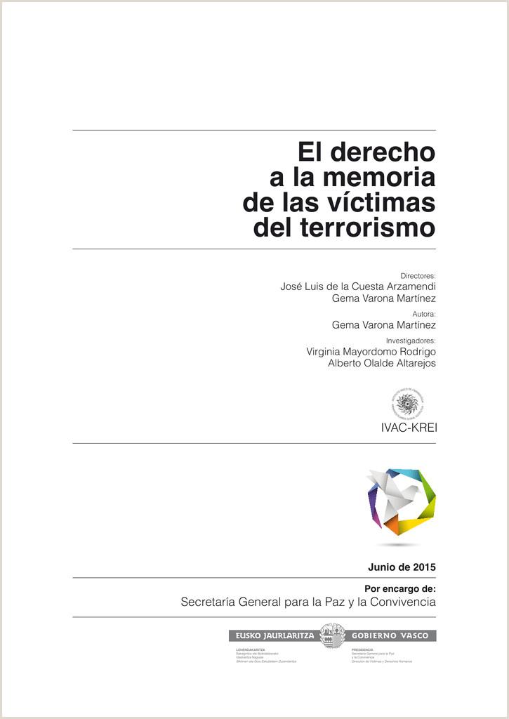 El derecho a la memoria de las vctimas del terrorismo Proyecto