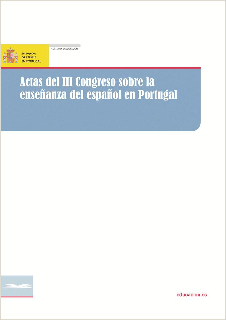 Actas III Congreso del Espa±ol Ministerio de Educaci³n