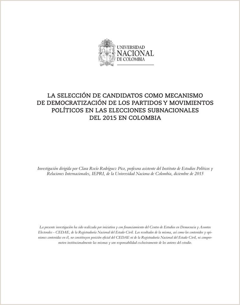 """LA SELECCI""""N DE CANDIDATOS O MECANISMO DE"""
