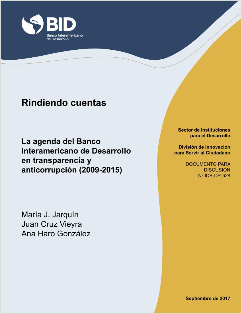PDF Rin ndo cuentas La agenda del Banco Interamericano