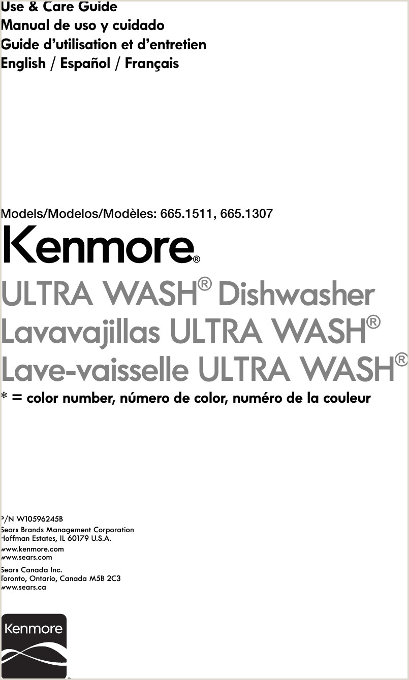 Kenmore 24 Built In Dishwasher Stainless Steel Energy Star