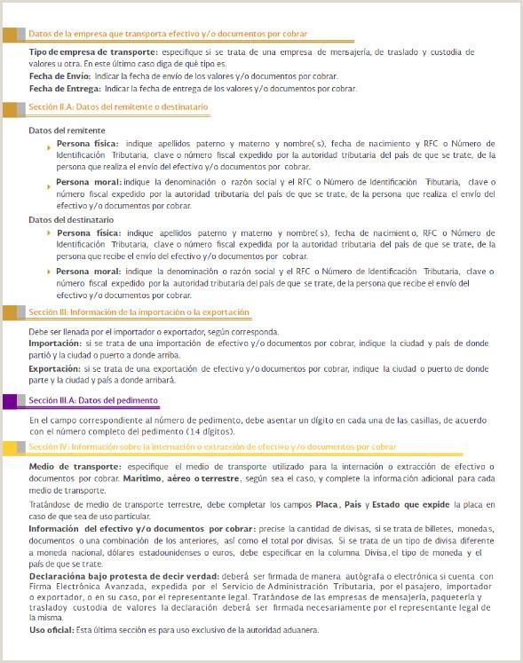 Formato Unico De Hoja De Vida Instrucciones Dof Diario Icial De La Federaci³n