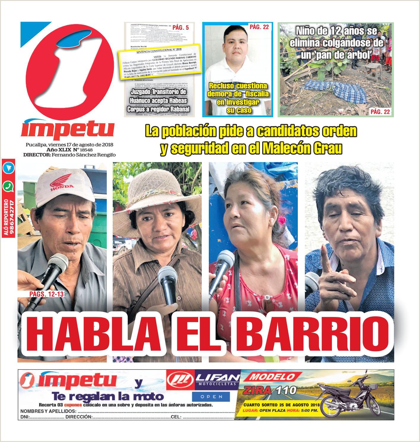 Impetu 17 de Agosto del 2018 by Diario mpetu issuu