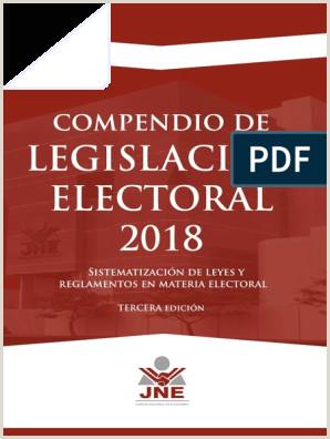 pendio de Legislaci³n Electoral 2018 JNE