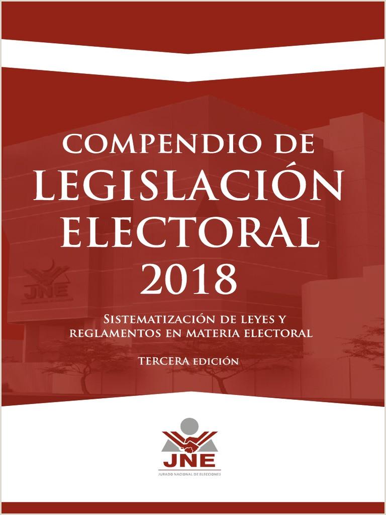 Formato Unico De Hoja De Vida Jne 2018 Pendio De Legislaci³n Electoral 2018 Jne