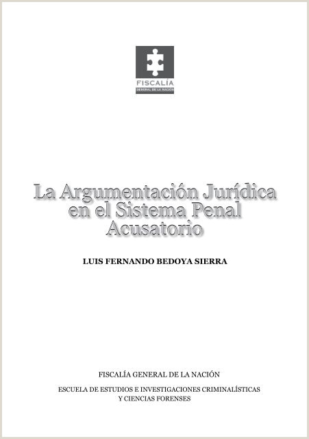 La Argumentaci³n Jurdica en el Sistema Penal Acusatorio