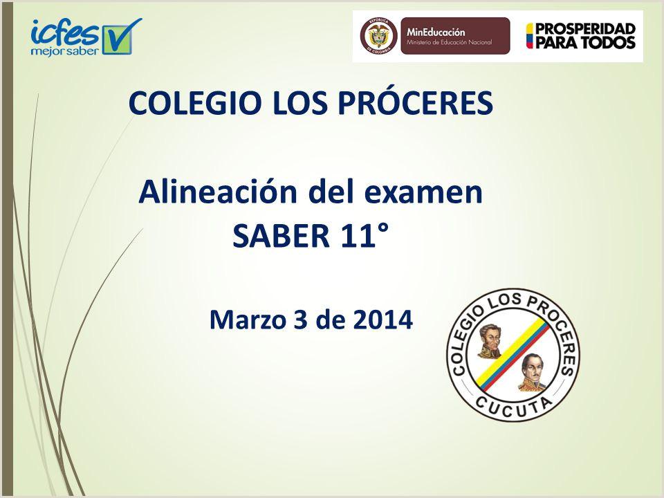 """Formato Unico De Hoja De Vida Mineducacion Colegio Los Pr""""ceres Alineaci³n Del Examen Saber 11°"""