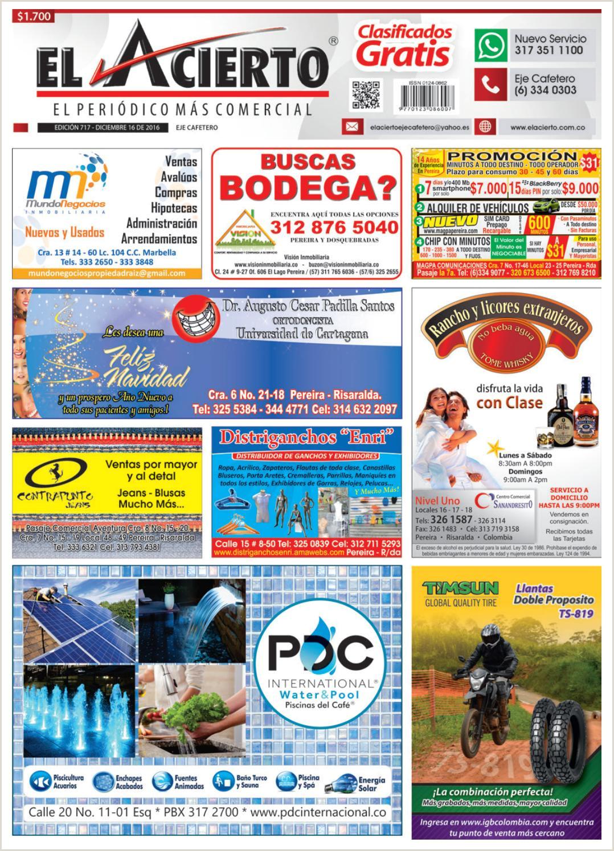 Pereira 717 16 diciembre 2016 by El Acierto issuu