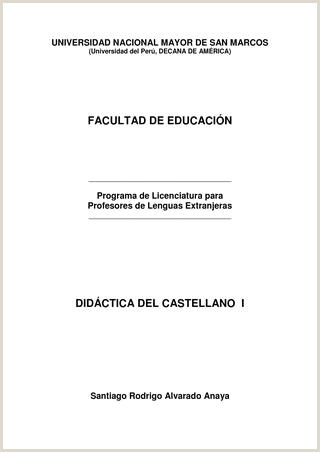 Didáctica del castellano I by UNMSM PROLEX issuu