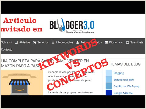Formato único De Hoja De Vida original Keywords Vs Conceptos I➨ 10 Métodos De Keyword Research
