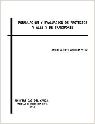 Formulacion y evaluacion de proyectos viales y de transporte