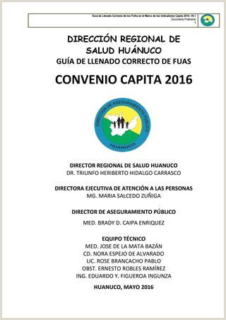 Manual del correcto llenado del fua 2016 proyecto coquito by