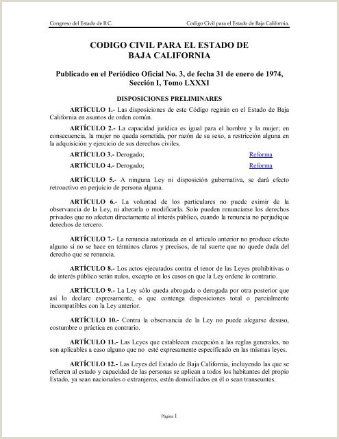 Codigo Civil para el Estado de Baja California