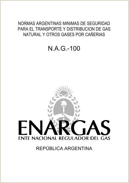 NAG 100 Ente Nacional Regulador del Gas