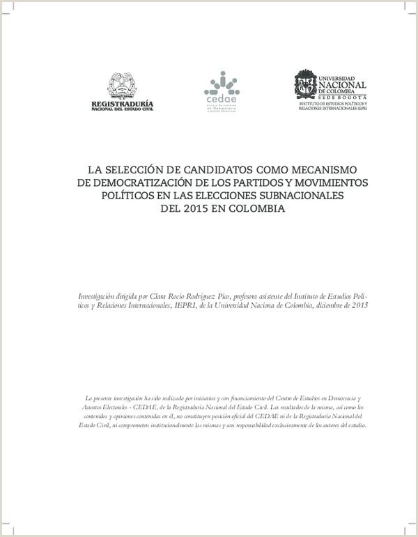 """Formato Unico De Hoja De Vida Registraduria Nacional Del Estado Civil Pdf La Selecci""""n De Candidatos O Mecanismo De"""