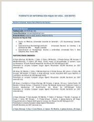 Formato Unico De Hoja De Vida Universidad Del Quindio formato De Informaci³n Hojas De Vida – Docentes