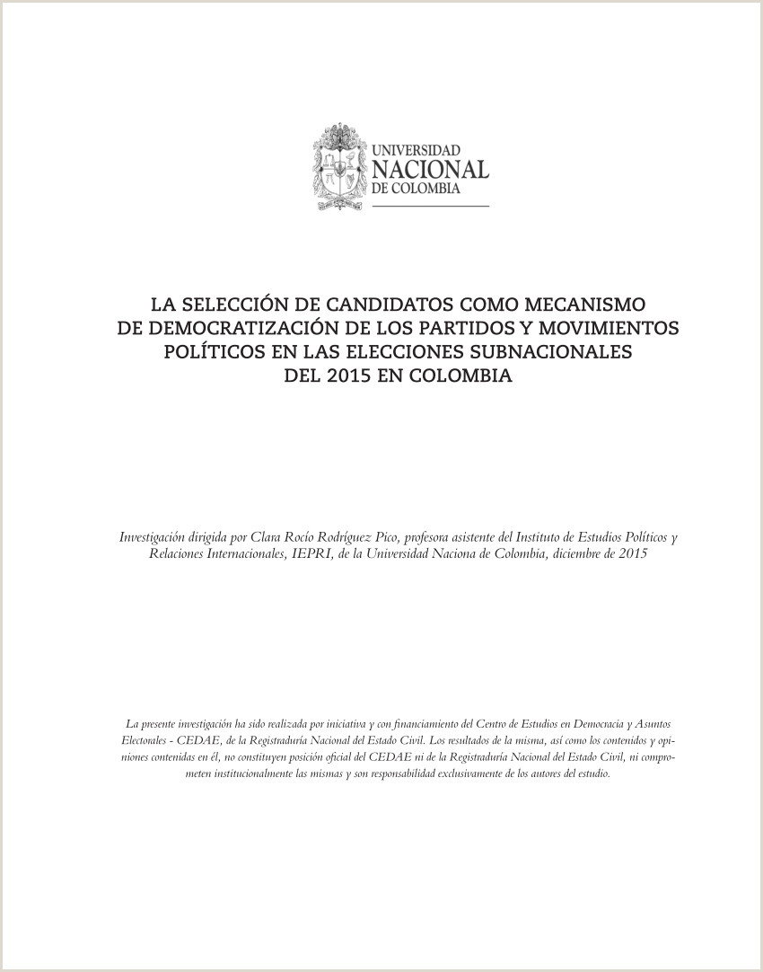 PDF La selecci³n de candidatos o mecanismo de