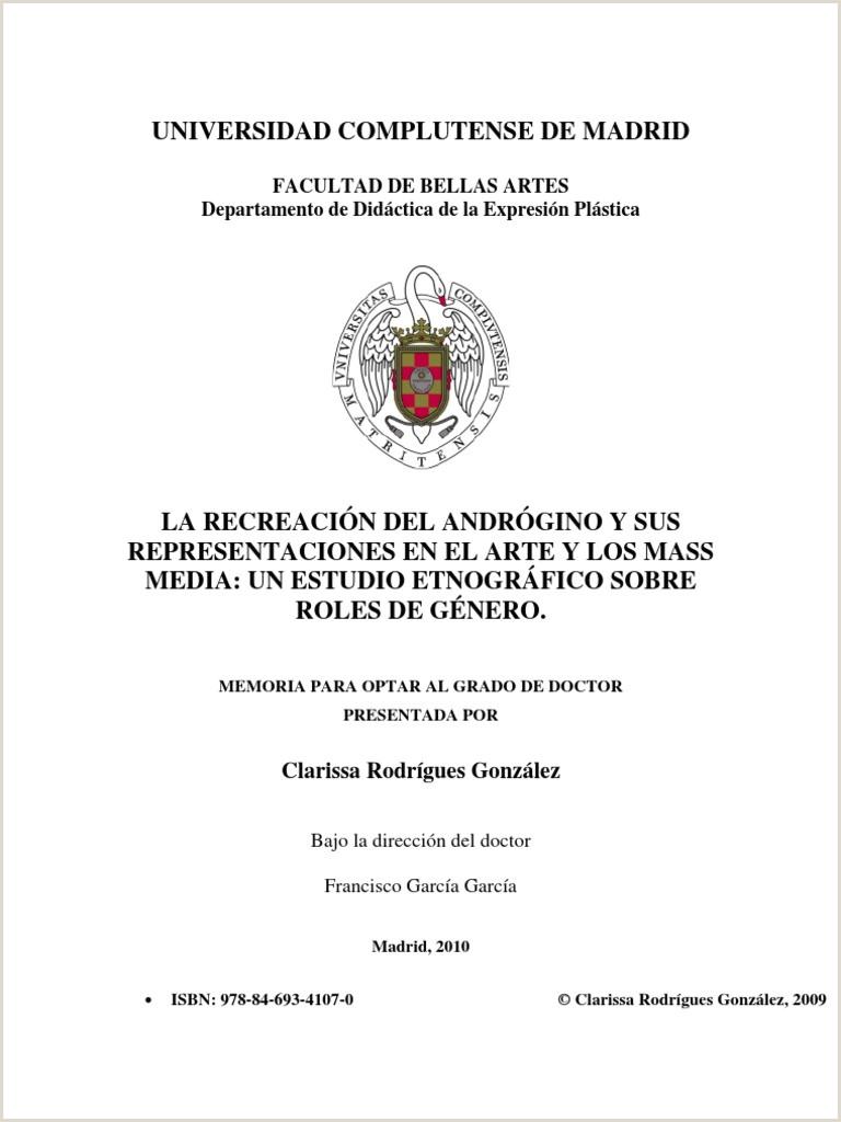 Formato único Entidad Receptora Hoja De Vida Persona Jurídica Tesis Clarissa Gonzalez androginia Ucm 2009