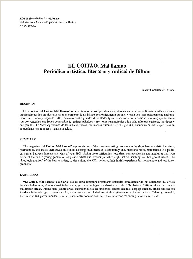 Formato Unico Hoja De Vida Acin El Coitao Mal Llamao Peri³dico Artstico Literario Y