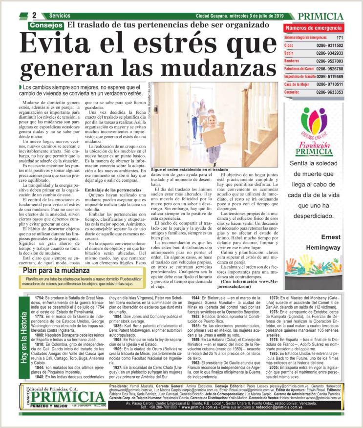 Diario Primicia Edici³n Digital