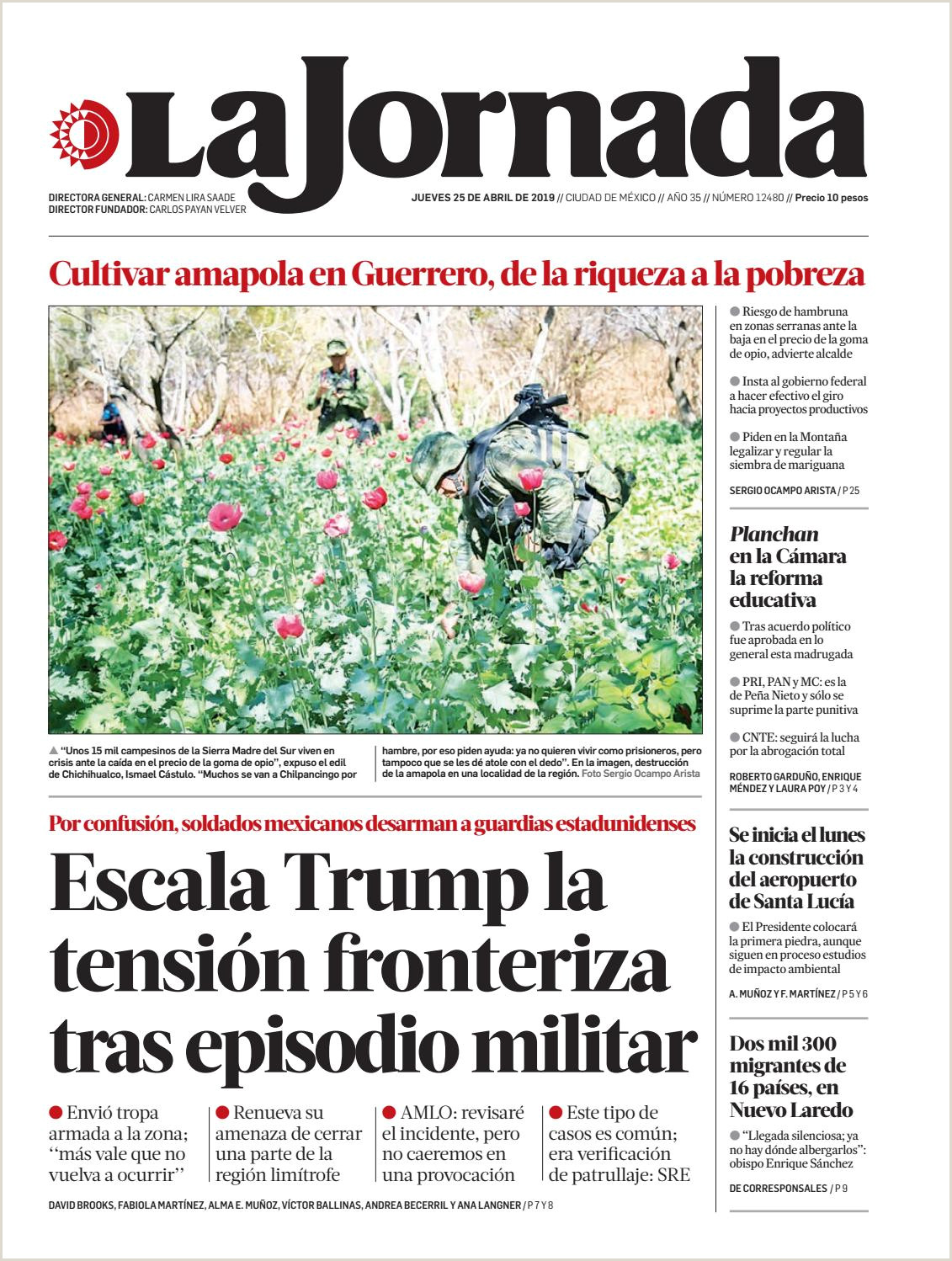 La Jornada 04 25 2019 by La Jornada issuu