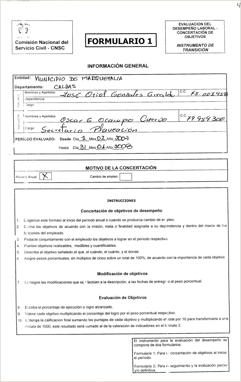 "Formato Unico Hoja De Vida Cnsc.gov.co D L Informaci""n General Periodo Valuado Dosdo Da Jj[ Jmes"