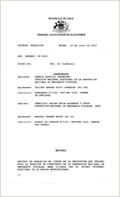 Rol 45 2012 Tribunal Calificador de Elecciones