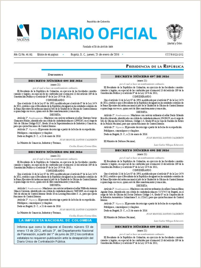 Formato Unico Hoja De Vida Fiduprevisora Diario Icial Bogotá D C Jueves 21 De Enero De 2016