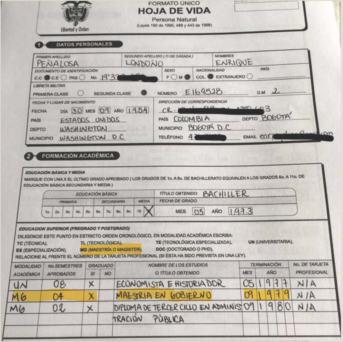 "Formato Unico Hoja De Vida Funcion Publica Con Foto Yohir Akerman Na Twitteru ""primer Adjunto De Mi Columna"