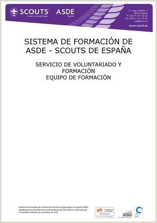 "SISTEMA DE FORMACI""N ASDE 2013 by Scouts de Espa±a issuu"