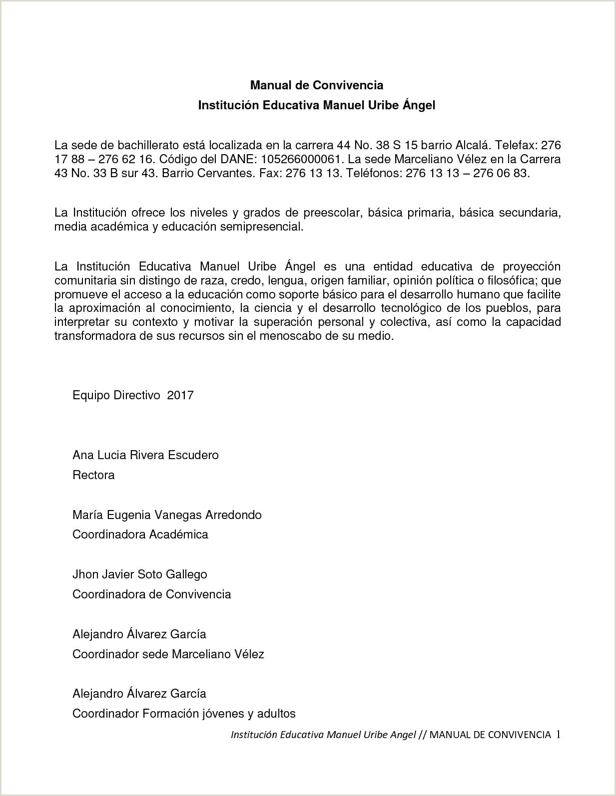 Formato Unico Hoja De Vida Gobernacion De Antioquia Calaméo Manual De Convivencia Mua 2017
