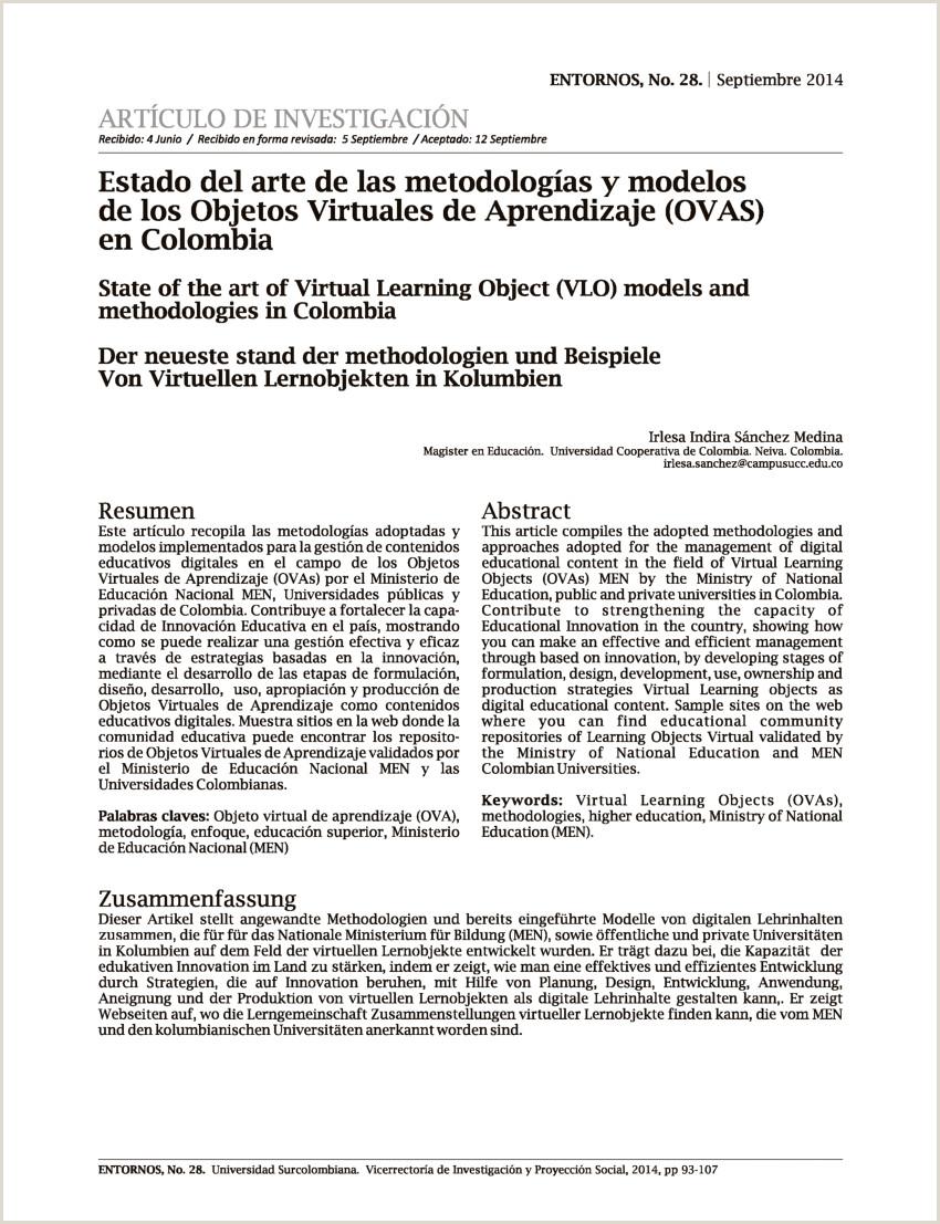 PDF Estado del arte de las metodologas y modelos de los