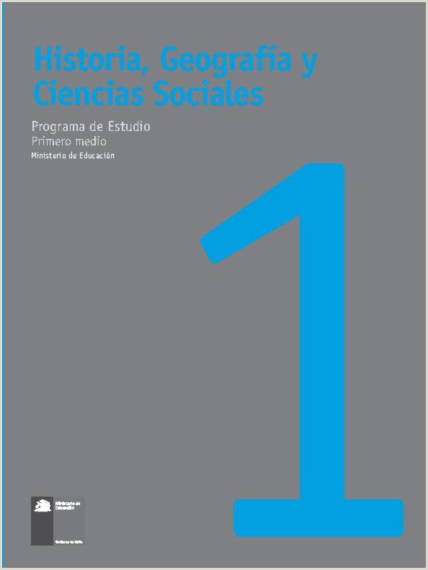 Historia Geografa y Ciencias Sociales