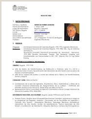 FORMATO UNICO DE HOJA DE VIDA Universidad Nacional