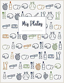 Mis Platos Libro de recetas en blanco XXL para anotar hasta