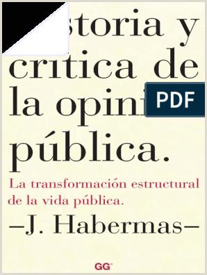 Historia y Critica de La Opinion Publica Habermas Jurgen pdf
