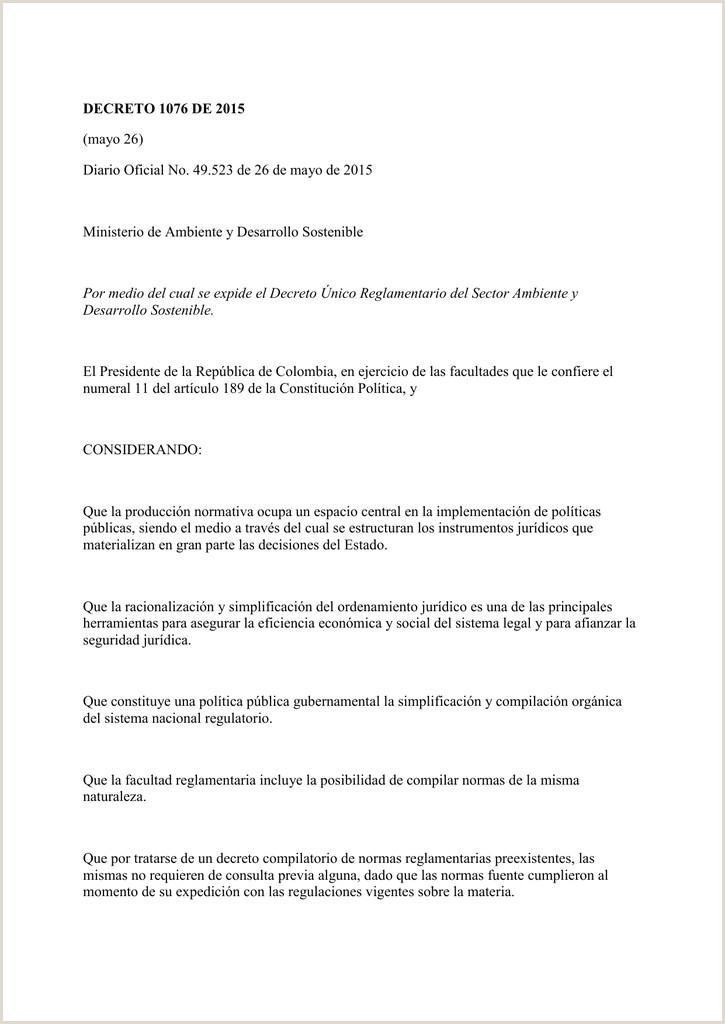 DECRETO 1076 DE 2015 mayo 26 Diario icial No 49 523 de 26