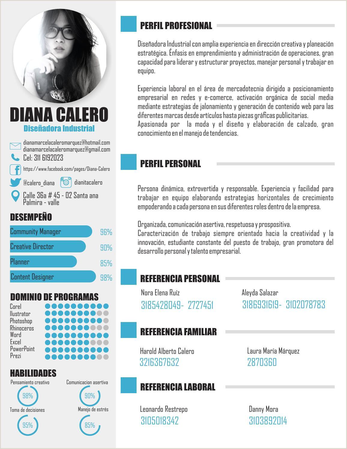 Hoja de vida by Diana Calero issuu