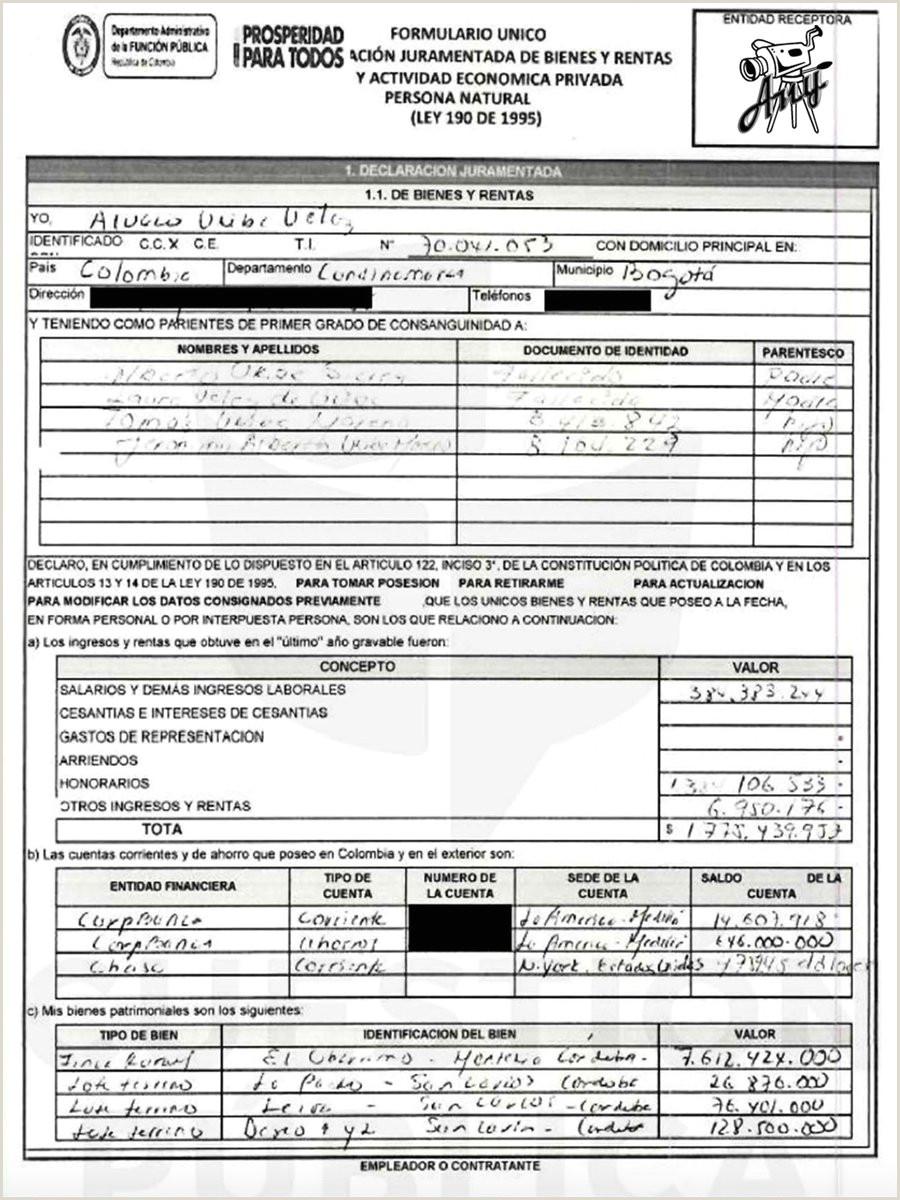 Formato Declaracion Juramentada De Bienes Y Servicios